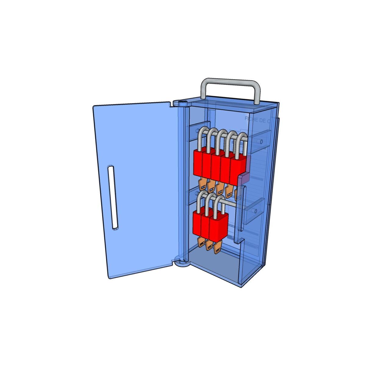 Postes de cadenassage en polycarbonate BLC-0612-TR