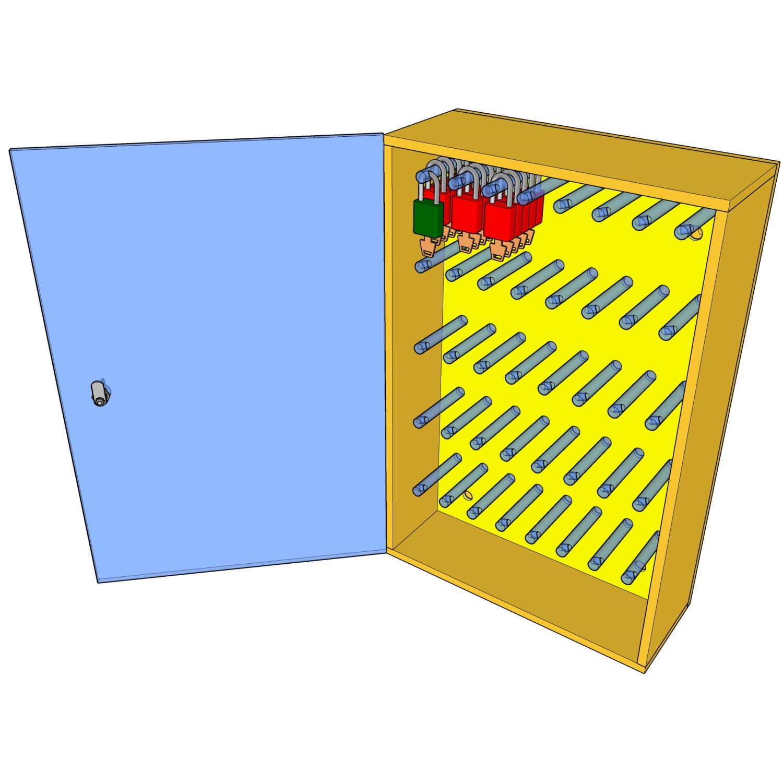 Postes de cadenassage en polyéthylène jaune vif BPC-1726-40P / BPC-2233-60P