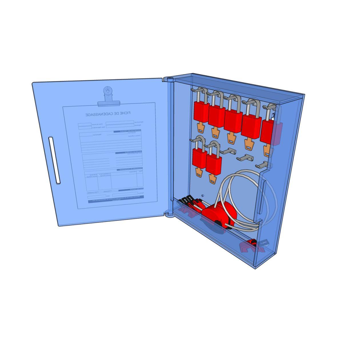 Postes de cadenassage en polycarbonate BLC-1215-10C
