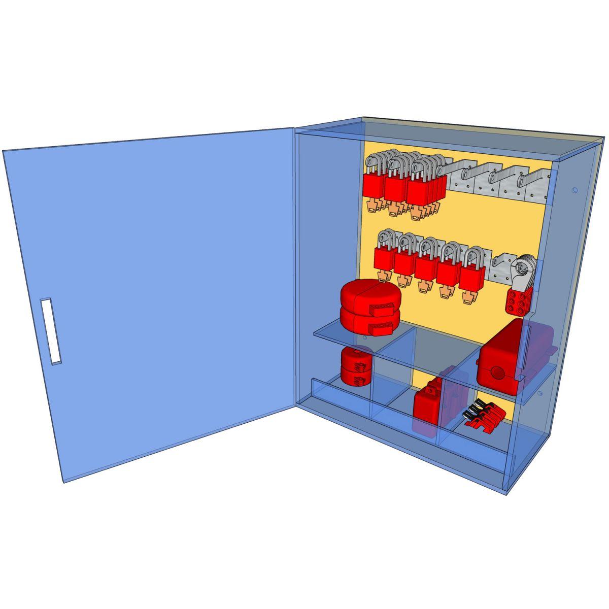 Postes de cadenassage en polycarbonate   PLC-1824