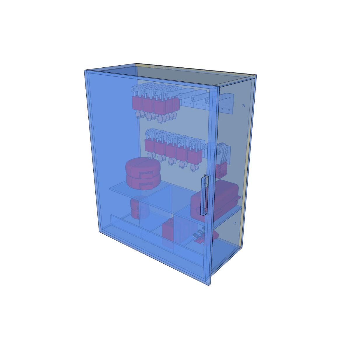 Postes de cadenassage en polycarbonate   PLC-1824 2