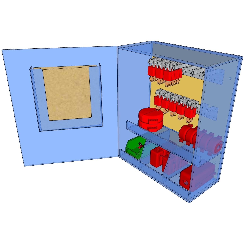 Postes de cadenassage en polycarbonate | PLC-1824-PO