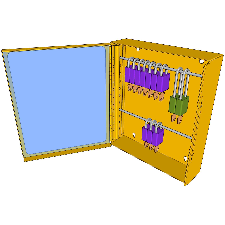 Postes de cadenassage en métal prépeint BMC-1214